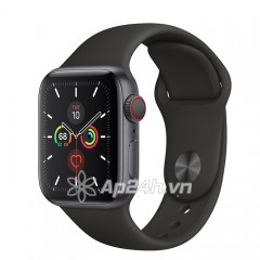 Apple Watch SE GPS + Cellular 40mm MYEK2VN/A Space Gray Aluminium Case with Black Sport Band (Apple VN)