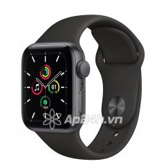 Apple Watch SE GPS 44mm MYDT2VN/A Space Gray Aluminium Case with Black Sport Band (Apple VN)
