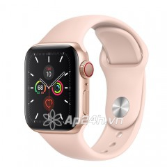 Apple Watch SE GPS + Cellular 44mm MYEX2VN/A Gold Aluminium Case with Pink Sand Sport Band (Apple VN)
