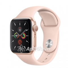 Apple Watch SE GPS 40mm MYDN2VN/A Gold Aluminium Case with Pink Sand Sport Band (Apple VN)
