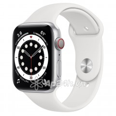 Apple Watch Series 6 GPS + Cellular 44mm MG2C3VN/A Silver Aluminium Case with White Sport Band (Apple VN)