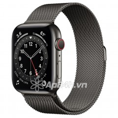 Apple Watch Series 6 GPS + Cellular 44mm M09J3VN/A Graphite Stainless Steel Case with Graphite Milanese Loop (Apple VN)