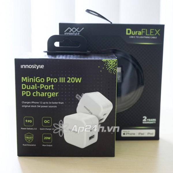 Củ sạc nhanh Innostyle Minigo Pro III 20W PD QC 3.0