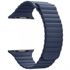 Dây da Leather Loop Coteetci Blue 40/44mm
