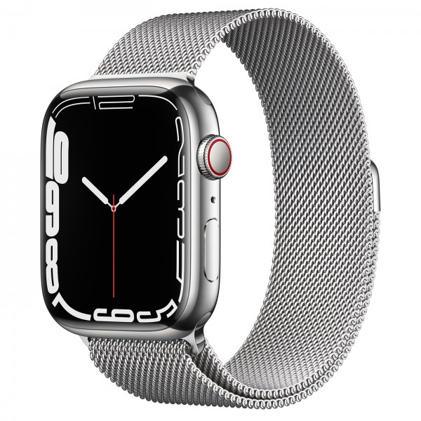 Apple Watch Series 7 GPS + Cellular 45mm viền thép dây thép