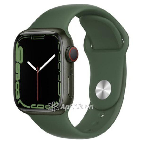 Apple Watch Series 7 GPS + Cellular 45mm viền nhôm dây cao su copy